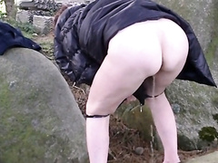 Wife lets me film her pissing outdoors