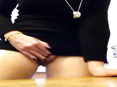 My fantastic girlfriend squirts on a table