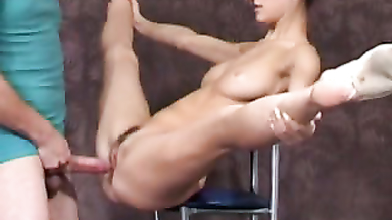 Flexi gymnast fucked by her workout coach 2