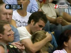 Basketball fan gives a public blowjob at sporting event