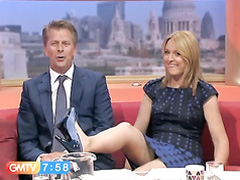 Morning show host makes an upskirt mistake