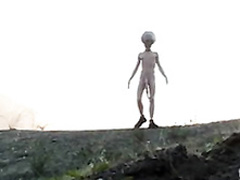 Big cock alien bangs a hottie in weird video