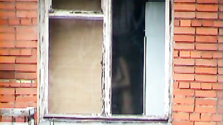 Women changing in bedroom window voyeur