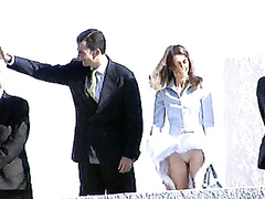 Queen Letizia of Spain in slow motion upskirt video