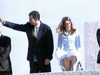 Queen Letizia of Spain in slow motion upskirt video