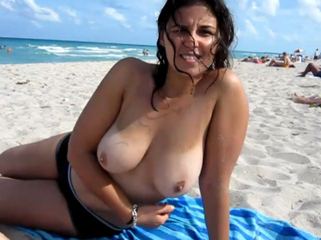 at beach Naked the