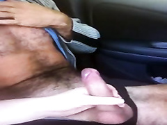 Handjob in the parked car makes my boyfriend cum