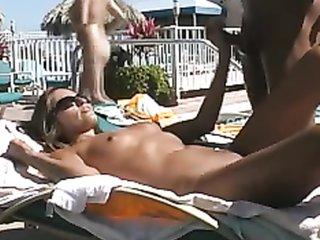 Hotel interracial amatuer sex swimming pool blonde
