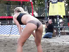 Volleyball babes have incredible asses to admire