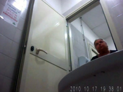 Fat granny urinating and wiping in hidden cam clip