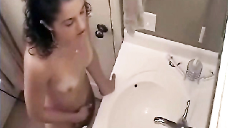 Masturbating in the bathroom