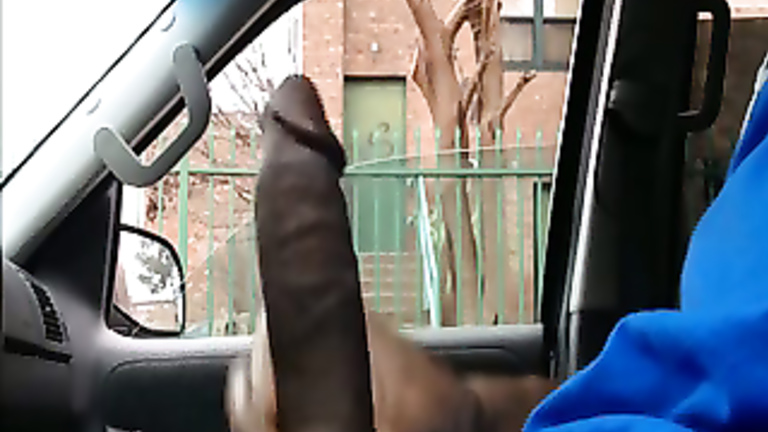 Stroking black dick 13