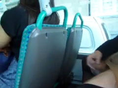 Dude furiously masturbates his weenie on the bus