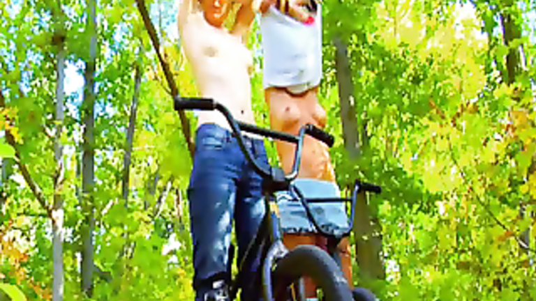 Girl on bike masturbate movie