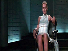 Sharon Stone pussy in upskirt video clip