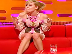 Upskirt with a famous lady on a TV show