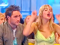 Nipple slip with blonde on British chat show