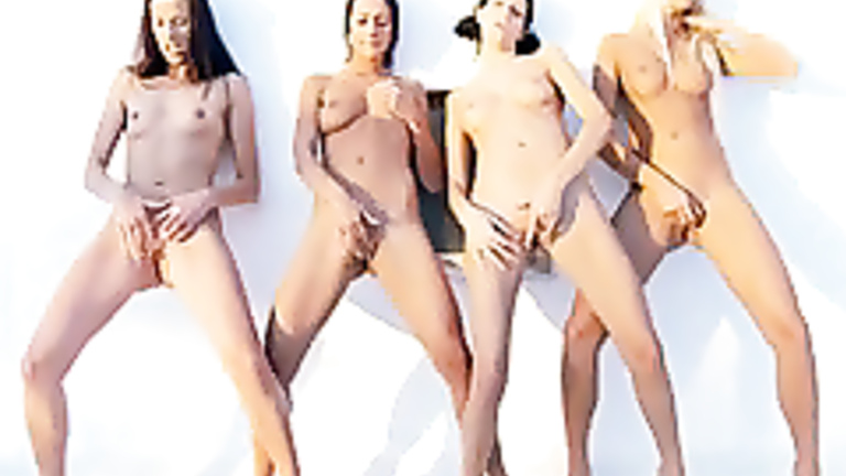 Four girls having sex