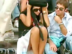 Plenty of public upskirts in voyeur video