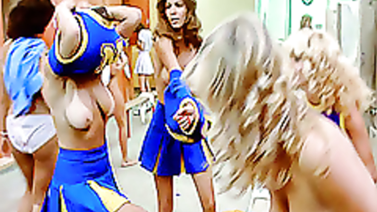 Mistaken. Hot cheerleaders locker room