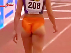 Hot athletic ass at track meet