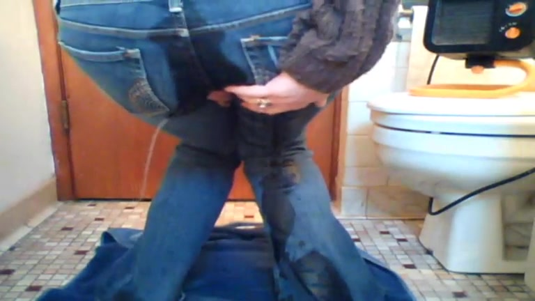 GF pisses all over her brand new jeans