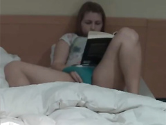 Reading and masturbating before bed time
