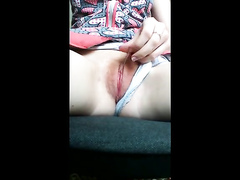 Amateur girl appears on cam touching her pussy drool