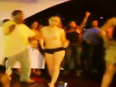 Girls get naked on the rap concert