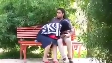 Turkish girl in hijab gives a blowjob to her friend in the city park