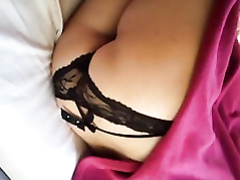 Girl for one night exposes her sexy underwear recorded while she is asleep