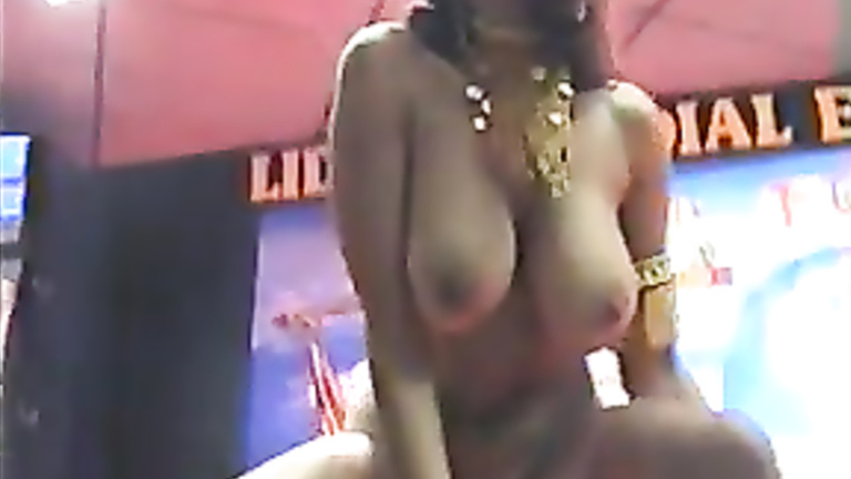 Erotic belly dance of the bustiest beauty