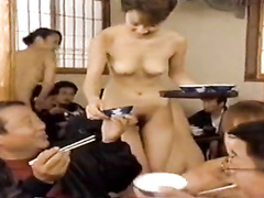 Japanese restaurant with the hottest nude waitresses