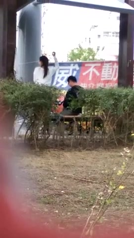 Asian coed girl enjoys banging hard on the park bench