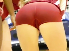 Gorgeous volleyball players show off their round butts
