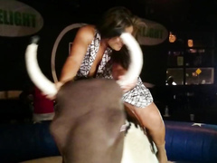 Chubby senorita tries to cover her panties on a ride
