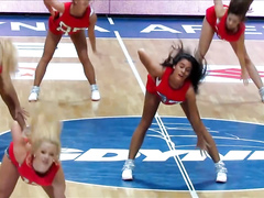 Sexy cheerleaders jiggle their round butts while dancing