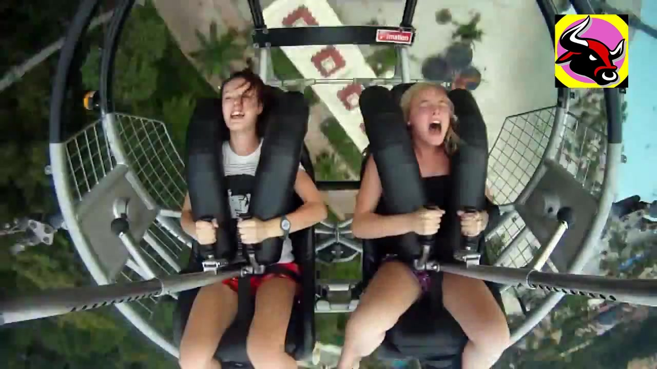 Can consult girls flashing on roller coaster