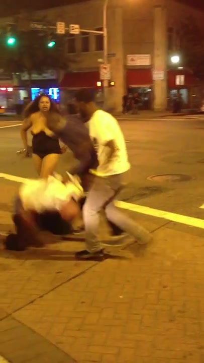 Ass crazy fight street