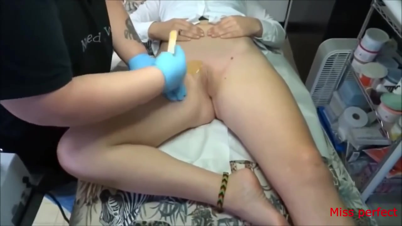 pussy waxing is quite an arousing process! | voyeurstyle
