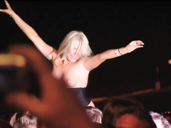 Breathtaking bare tits at the Nickelback concert