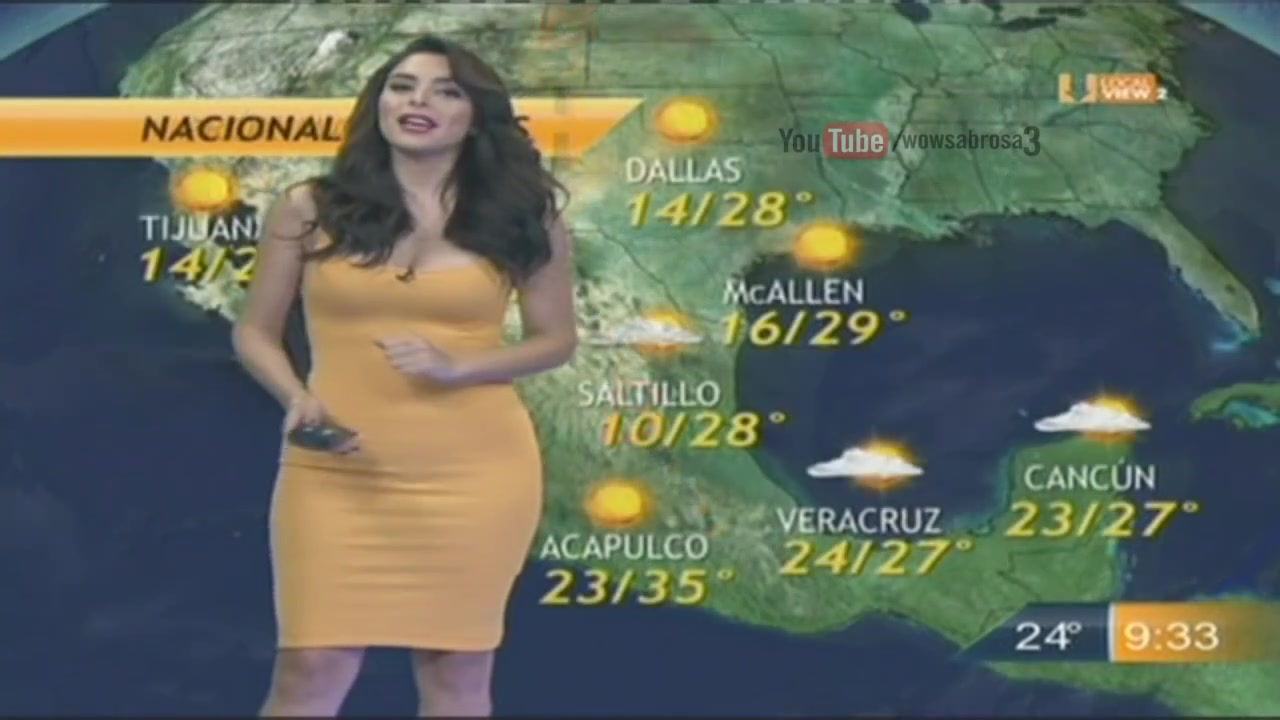 Yet another mind-blowing weather girl from Mexico