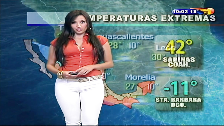 Mexican TV presenter and her sexy crotch