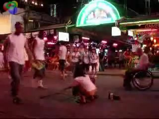 Nastiest woman urinates in the middle of the street of Pattaya