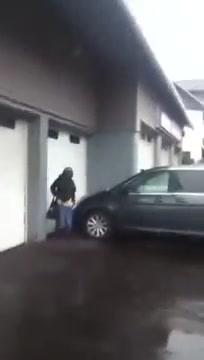 Desperate senora took a slash next to our car!