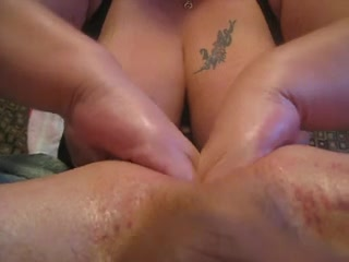 Busty mommy massages my prostate as I masturbate