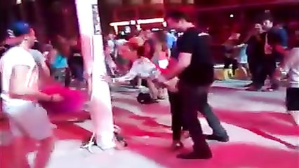 Doggystyle penetration at the dancing event