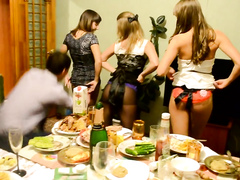 Three delicious lasses get really crazy at a party