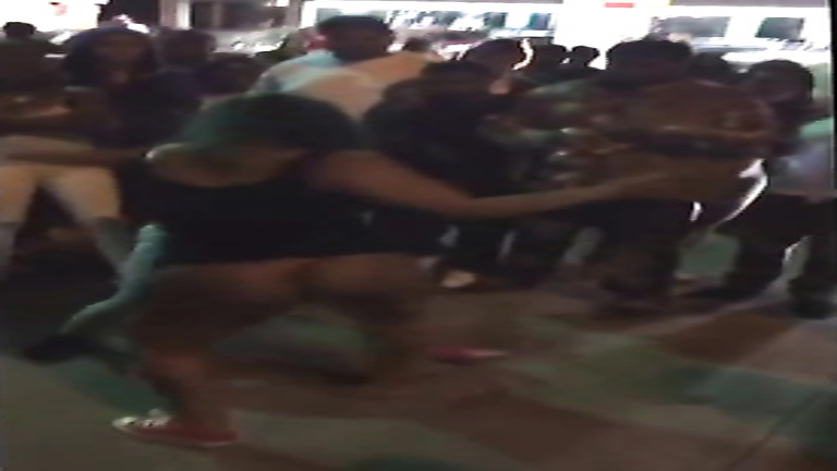 Chocolate ass shakes during the girls' fight!