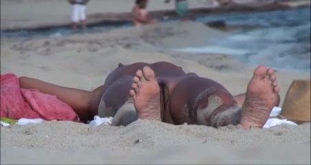 Naked goddess doing some sunbathing